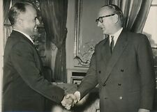 Guy Mollet - Habib Bourguiba 1956 - Hommes Politiques - PR 401