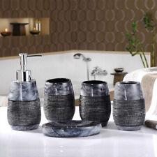 NEW 5pcs Luxury Noble Slap-up Bathroom accessories set Resin Soap Dish Dispenser