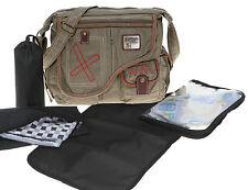 6 T SET Baby Wickeltasche COATED ELEPHANT Babywickeltasche Tasche Bag 3698 OLIV