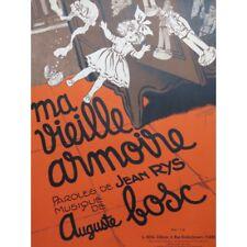 BOSC Auguste Ma vieille armoire Chant Piano 1938 partition sheet music score