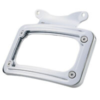 Curved License Plate Mount Frame Light For Harley Softail Road King Street Glide