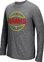 Atlanta Hawks Adidas SlimFit On-Court Grey Pre-Game Ult Syn Long Sleeve Shirt