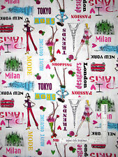 Fashion Couture Designer Model Cotton Fabric Kanvas Studio Jet Set White - Yard