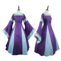 Lady Medieval Costume Renaissance Fancy Dress Noble Masquerade Elegant Ball Gown