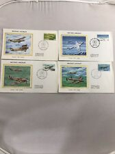 Canada Colorano Silk Cachet Fdc set of 4 Military Aircraft 10Nov1980