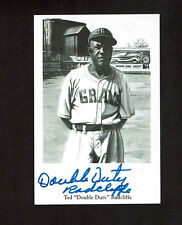 TED DOUBLE DUTY  RADCLIFFE  Signed Negro League PHOTO