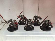 Warhammer 40K-Gris Caballeros Terminator De Metal OOP Pintado