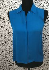 Theory Royal Blue Sleevless Blouse Size P