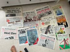 More details for great newspapers reprinted x 30 - 30 great historic newspapers see scans
