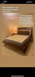 bedroom set queen furniture used