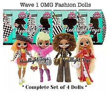 4 Lol Surprise Omg Fashion Dolls Wave 1 Swag Lady Diva Royal Bee Neonlicious Htf