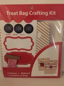 Treat Bag Crafting Kit - Makes 8 - Party Favors Red White