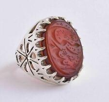 Islamic yemen- yemeni-agate aqeeq aqiq 925 Silver Men Ring- Quran-middle eastern