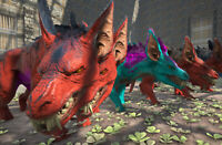 Ark Survival Evolved Xbox One Official PVE Color Mutated Ravager w/ Saddle