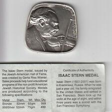 Jewish Amirican Hall of Fame, Isaac Stern, 75g Trapezoid Silver Medal