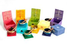 More details for ancient wisdom brass chakra singing bowl set bowl cushion and wooden stick
