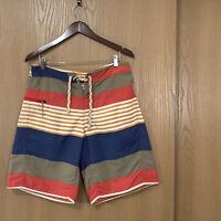 Patagonia Men's Wavefarer Board Shorts Size 33 Swim Trunks Nylon Solid/Striped