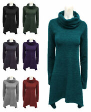 No Pattern Cowl Neck None Long Jumpers & Cardigans for Women