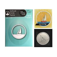 Boat Metal die Cut Sailboat Circle Frame Memory Box Cutting Dies 99996 Nautical