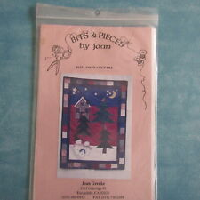 Snow Country Bits & Pieces by Joan Quilt Applique Pattern & Fabric