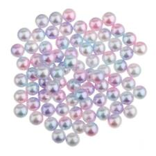 200Pcs 3mm Colored Plastic Pearl Beads Loose Beads Spacer DIY Jewelry Making