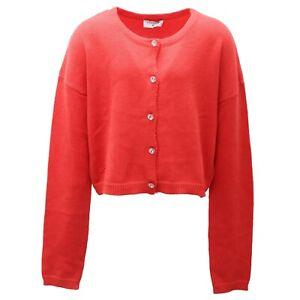 9102AD cardigan bimba girl MONNALISA coral sweater kids