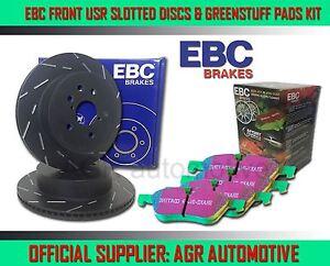 EBC FRONT USR DISCS GREENSTUFF PADS 260mm FOR RENAULT CLIO 1.5 D 105 BHP 2005-13
