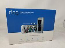 New Ring Video Doorbell Pro WiFi 1080P HD Camera Night Vision - Satin Nickel