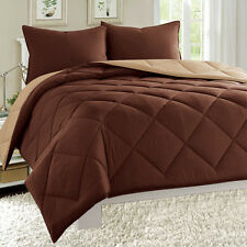 Reversible Comforter Set Down Alternative 1-pc Bed Cover Super SOFT - 11 Colors