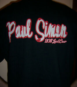 Paul Simon - 2011 Tour - Local Crew T-shirt - XL - NEW and never worn
