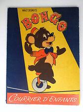 RARISSIME ancien papier à lettre Bongo Walt Disney