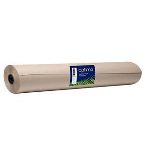 "Optima Bodyshop Spray Masking Paper 48"" 200m Brown Gloss Matt Surface Garage"