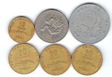 lot de 6 pieces Djibouti ( 001 )