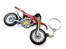 Rubber Keychain Key Chain Motocross Dirt Bike Honda CRF XR 9 KC01