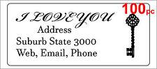 100 Personalised return address label custom sticky mailing sticker 56x25mm key