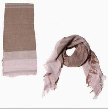 Color block Plaid Square Blanket Wrap Long Scarf Shawl Soft Pashmina, Pink Brown
