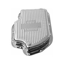 RPC Transmission Oil Pan R9197; Finned +1.50 Quarts Chrome Steel for GM TH-400