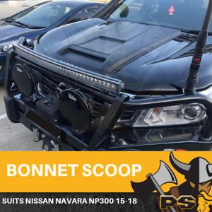 Black Bonnet Scoop Raptor to suit Nissan Navara NP300 D23 2015-2020