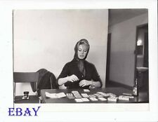 Brigitte Bardot plays cards VINTAGE Photo