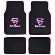 Super Girl Car Floor Mats Carpet 4 Pieces Front Rear Full Set Original Design