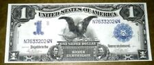1899 $1 Black Eagle Silver Certificate Large Note Parker/Burke UNC. RARE FIND