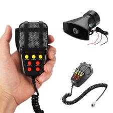 Black Horn Siren 12V Speaker 7 Sound Tone MIC 80W Car Suv Multi-ton Loud Warning