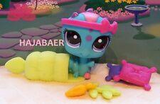 ☆♥ Littlest Pet Shop ♥☆ Chenille/Caterpillar Turquoise #1924 ♥☆ nombreux accessoires ♥☆ NEUF