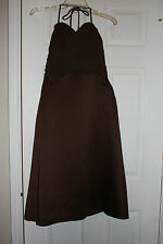 ALFRED ANGELO BROWN FORMAL GOWN DRESS SIZE 6 CRUISE PROM   NEW