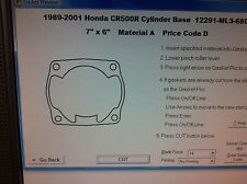Honda CR500R Cylinder Base Gasket 1989 1990 1991 1992 1993 1994 1995 1996 1997