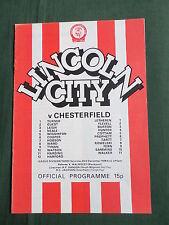 LINCOLN  v CHESTERFIELD  -  DIV 3 -  78/79