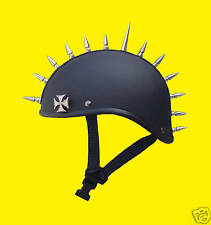 "Voss Gladiator 2"" Spike mohawk Novelty Motorcycle Helmet with Maltese cross"