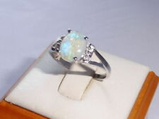 Handmade Solitaire with Accents Not Enhanced Fine Gemstone Rings