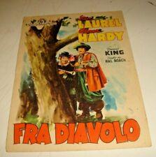 cartolina originale MGM film FRA DIAVOLO con STANLIO & OLLIO FG V1948
