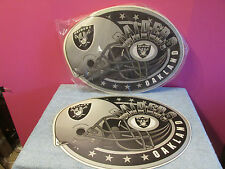 12 Oakland Raiders sign football placemats party man cave gift place mat NEW